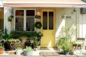 アンティーク玄関ドア施工事例|優しい雰囲気にセンスが光る花屋さん